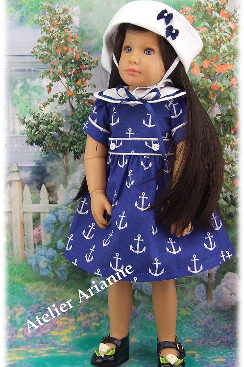 Tenue Annick pour poupée : Finouche, Gotz, Kidz'n'Cats bleu marine