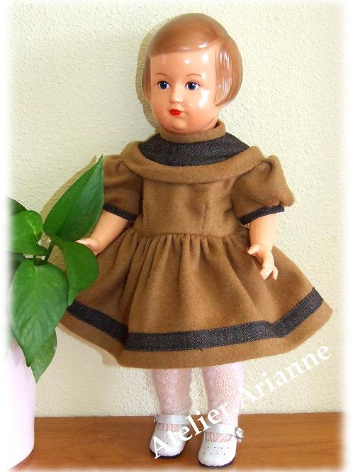 Tenue pour poupée Françoise Modes et Travaux Novembre 1955