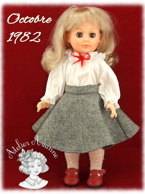 Octobre 1982 Tenue pour poupée Marie- Françoise de Modes et Travaux