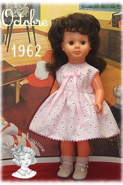 Tenue exclusive pour poupée Françoise Modes et Travaux Octobre 1962