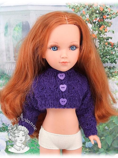 Gilet assorti à la robe Zoé pour poupées: Vidal, Nancy, Berbesa 40 cm