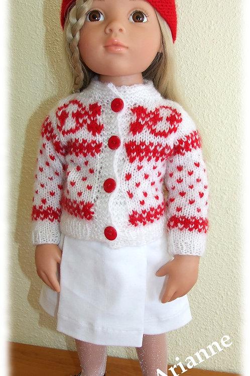 Tenue Sara pour poupée Gotz, Raynal et autres 48-50 cm