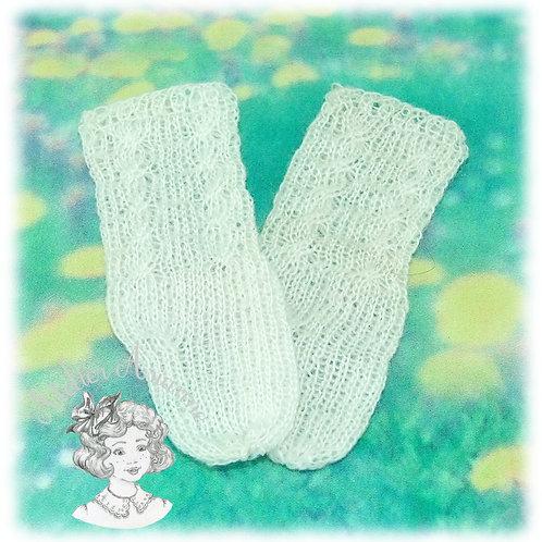 Chaussettes tricotées hautes pour poupée Martine