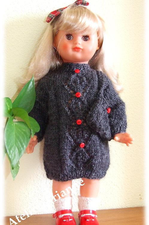 Tenue Maeva tricot pour poupée Emilie  Modes et Travaux