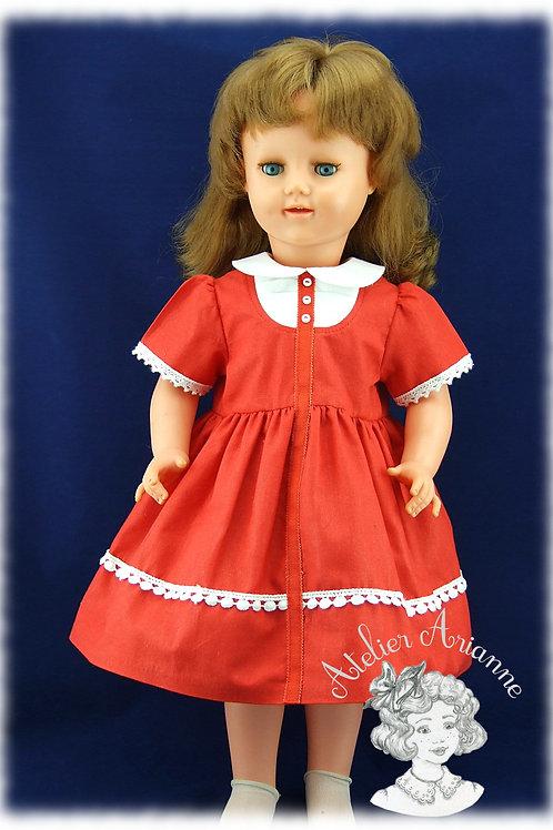 Reproduction de la tenue d'origine pour poupée Raynal 57 cm