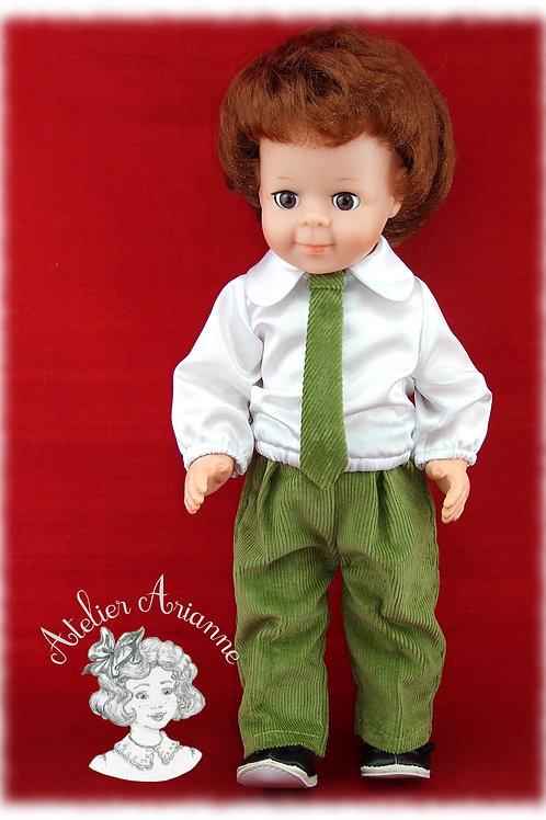 Tenue pour poupée Jean-Michel de Modes et Travaux Décembre 1984