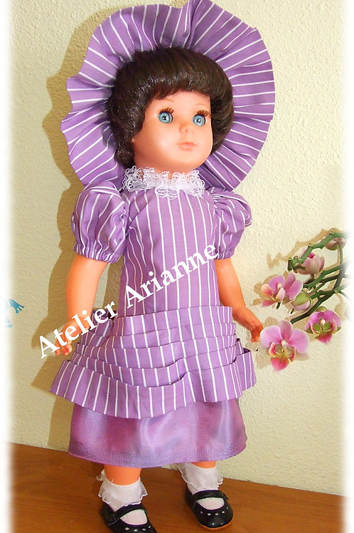 Tenue Décembre 1967 pour poupées Modes et Travaux Marie-Françoise