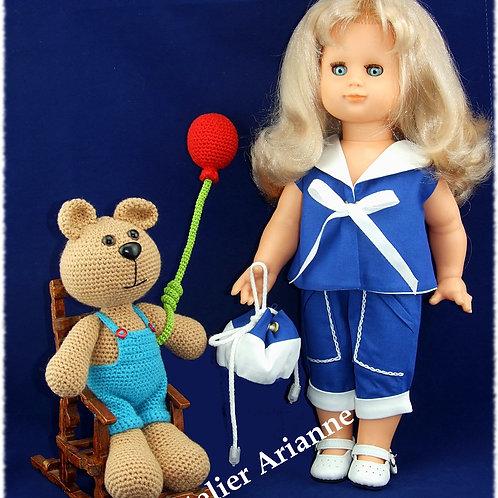 Tenue poupée Modes et Travaux Emilie Juin 1954