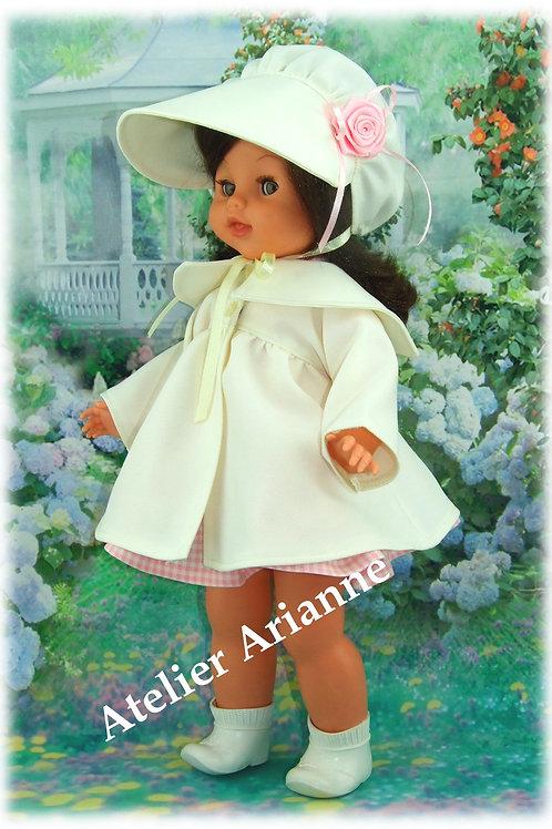 Tenue Bettina pour poupée Bella 38-40 cm manteau + chapeau