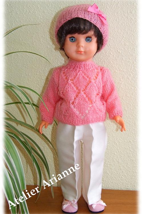Tenue Anna tricot, couture pour poupée Marie-Françoise Modes et Travaux