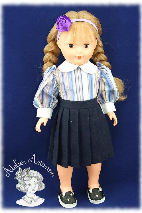 Nr 6 Chemise à manches bouffantes pour poupées Modes et Travaux