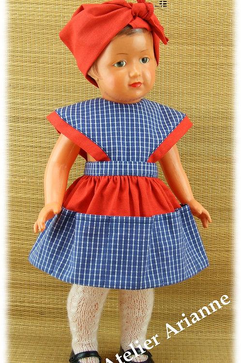 Tenue pour poupée Françoise Modes et Travaux Mai 1955