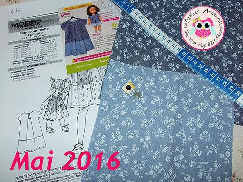 Kit 40 pour Joëlle couture Modes et Travaux  Mai 2016 : Emilie, Marie-Françoise,