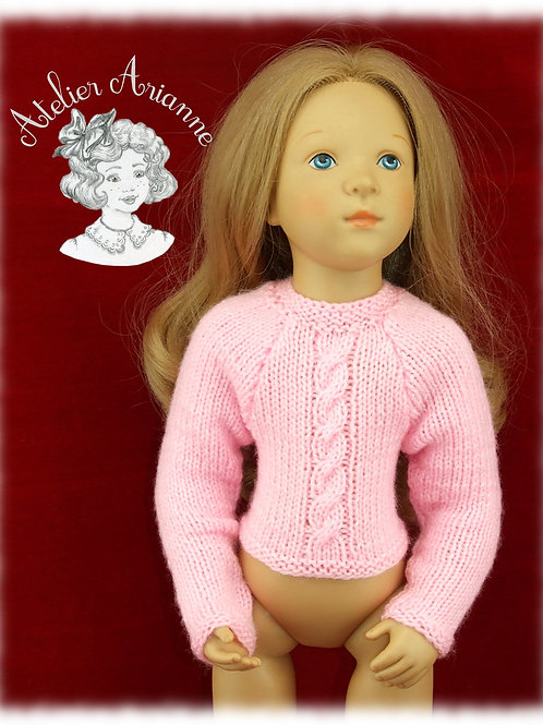 Julia pull -Tenue pour poupée Finouche de Petitcollin