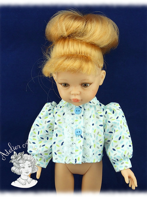 Chemise avec jabot pour poupée Corolle ou Paola Reina de 33 cm