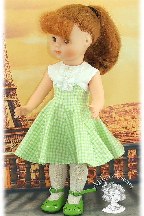 Parisienne, tenue pour poupée Elisabeth de Modes et Travaux