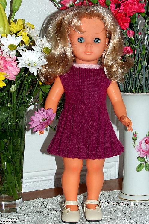 Tenue Suzanne tricot pour poupée Françoise Modes et Travaux
