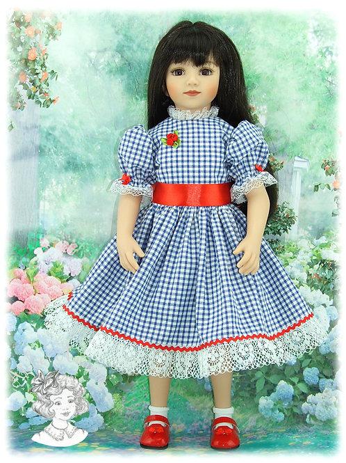 Tenue Dorothée pour : Gotz, Raynal, GéGe, Maru et autres de poupées de 50-53 cm