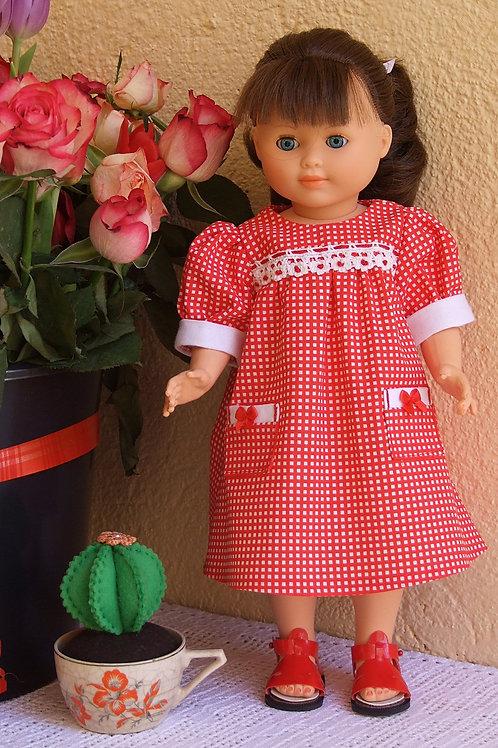 Tenue pour poupée Françoise et Emilie Modes et Travaux Juin 1986