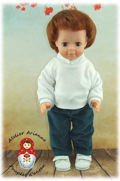 Le col roulé - Tenue pour poupée Jean-Michel de Modes et Travaux