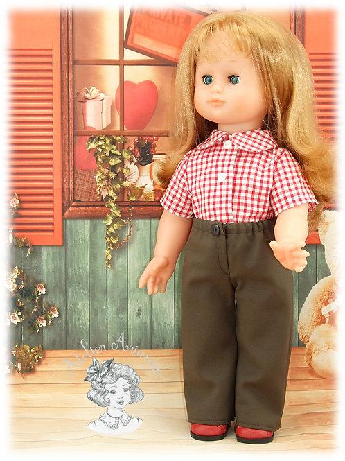 Pantalon pour poupée Emilie de Modes et Travaux