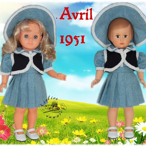 Tenue M&T pour Françoise , Marie-Françoise Avril 1951
