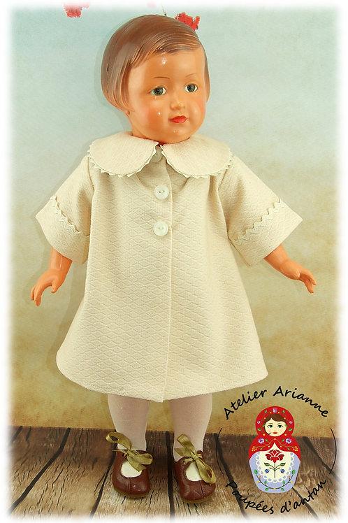 Août 1954 Tenue pour poupée Françoise  Modes et Travaux