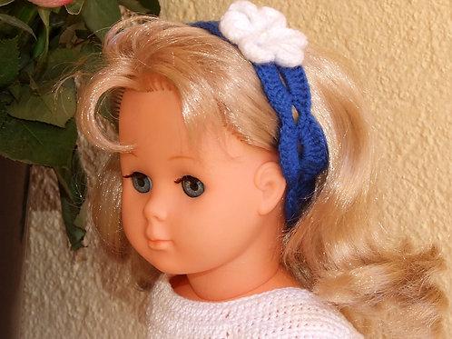 Bandeau moyen crochet pour poupée Françoise Modes et Travaux