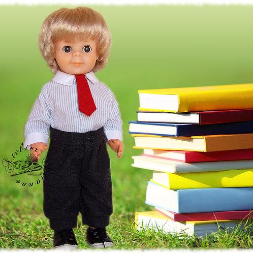 Tenue  pour poupée Jean-Michel  Modes et Travaux Octobre 1982