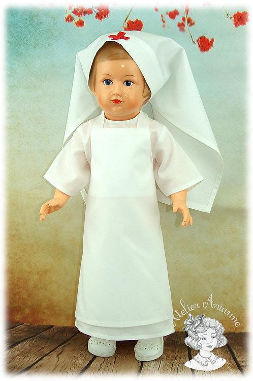 PETITCOLLIN-Tenue d'origine pour poupées de Modes et Travaux
