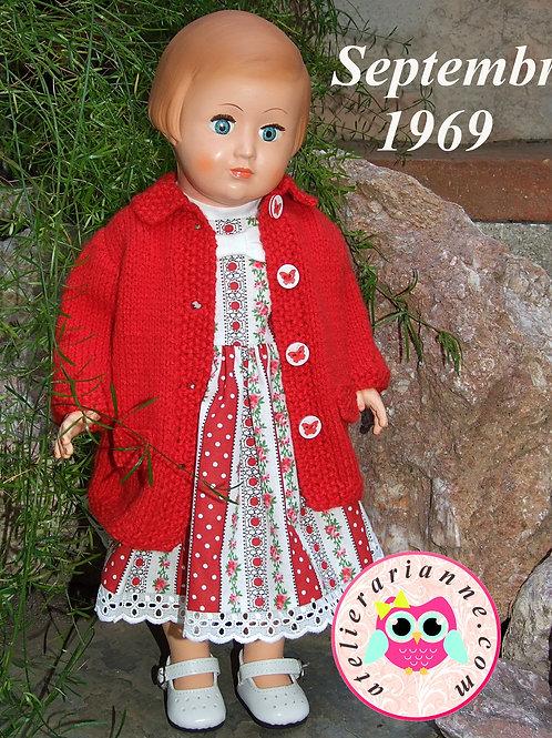 Tenue tricot pour poupée Françoise Modes et Travaux Septembre 1969