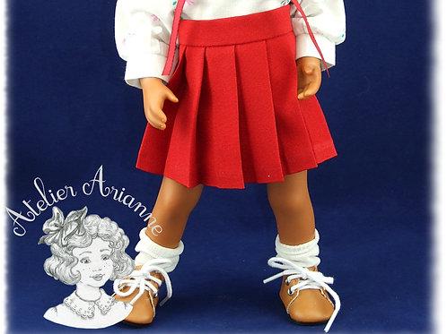 Jupe plissée pour poupée Minouche de 33 cm