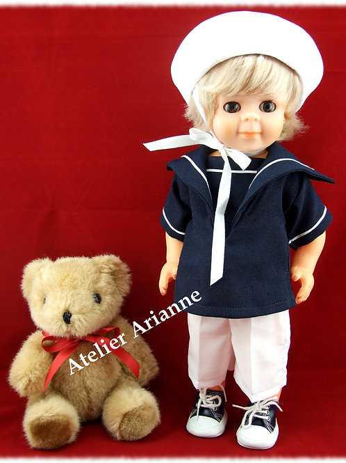 Tenue pour poupée Jean-Michel Modes et Travaux Juillet 1979
