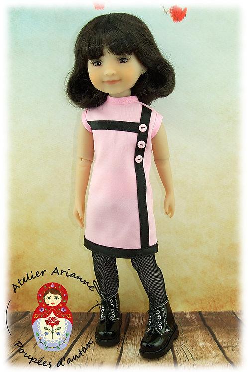 Dolores - boutons Tenue pour poupée  Ruby Red