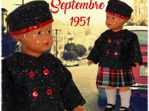 Commande pour Philippe Tenue  poupée Françoise Modes et Travaux Septembre 1951