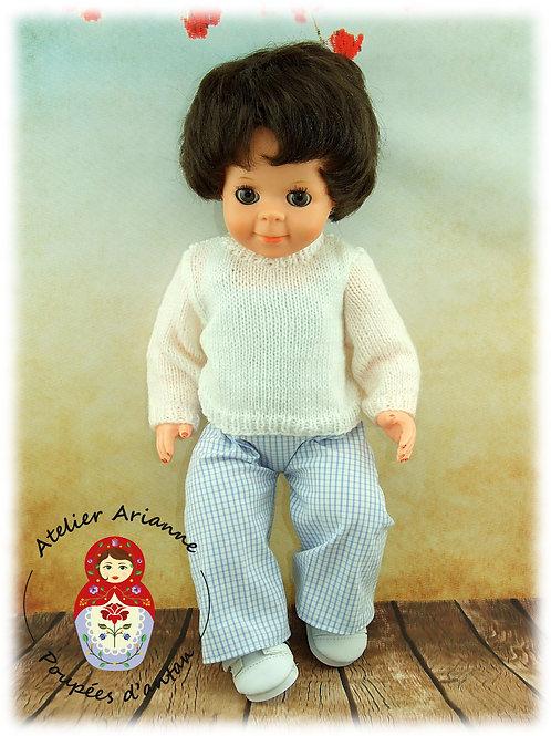 Pull -Tenue pour poupée Jean-Michel, Michel ou Emilie de Modes et Travaux