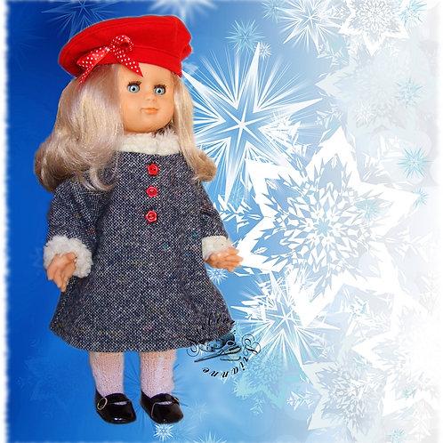 Tenue pour poupée Marie-Françoise, Emilie  Modes et Travaux Novembre 1984