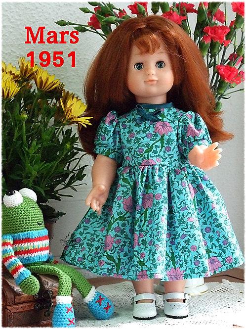 Tenue pour poupée Emilie Modes et Travaux Mars 1951
