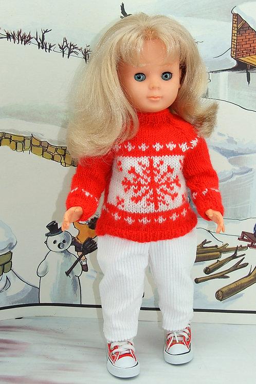 Tenue Flocon de neige pour poupée Marie-Françoise Modes et Travaux