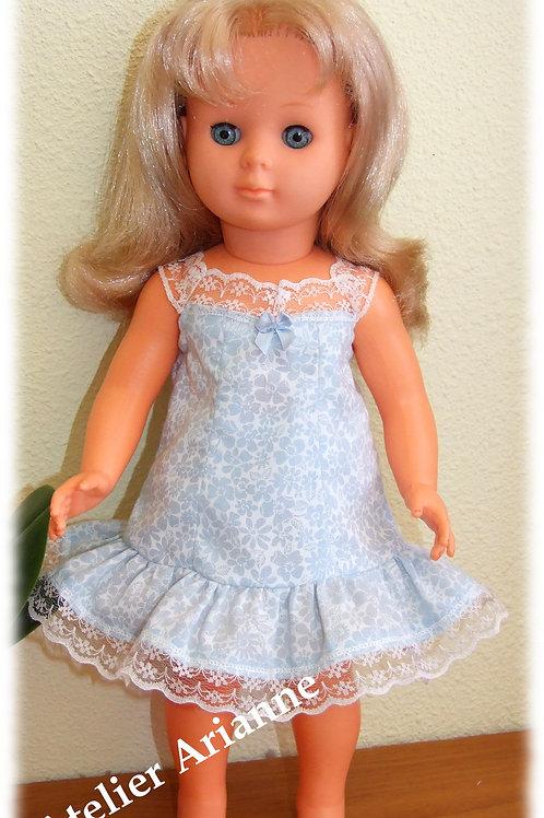 Tenue pour poupée Françoise Modes et Travaux Janvier 1965 bleu