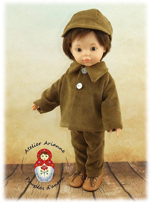 Emilien - veste et casquette, Tenue pour poupée  Paola Reina
