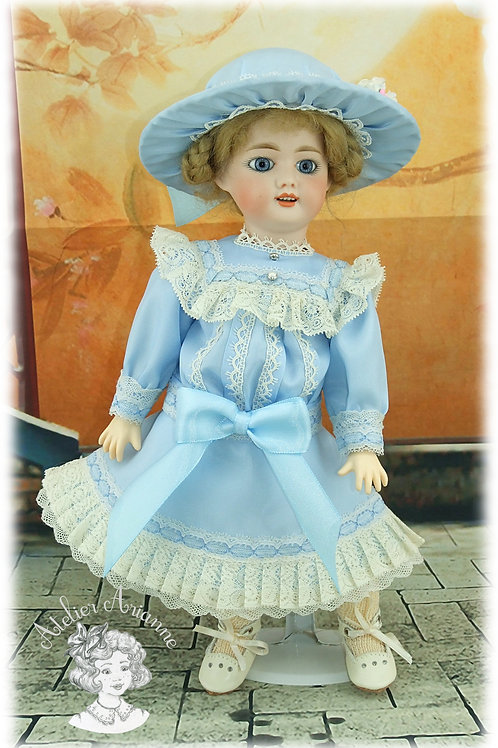 Robe Louisa pour poupée Bleuette de 27 cm