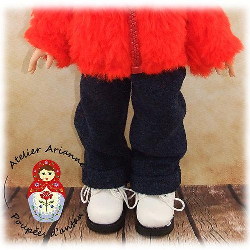 Pantalon avec revers  pour poupées Corolle et Paola Reina