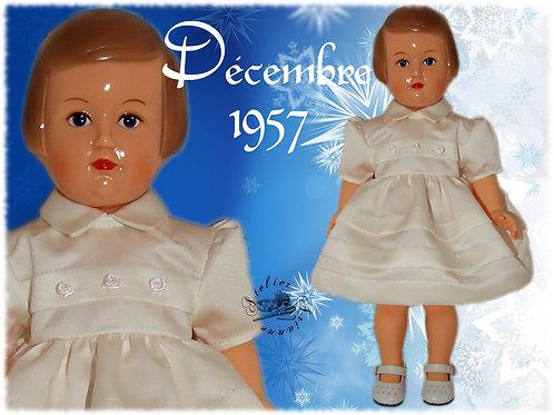 Tenue pour poupée Françoise Modes et Travaux Décembre 1957