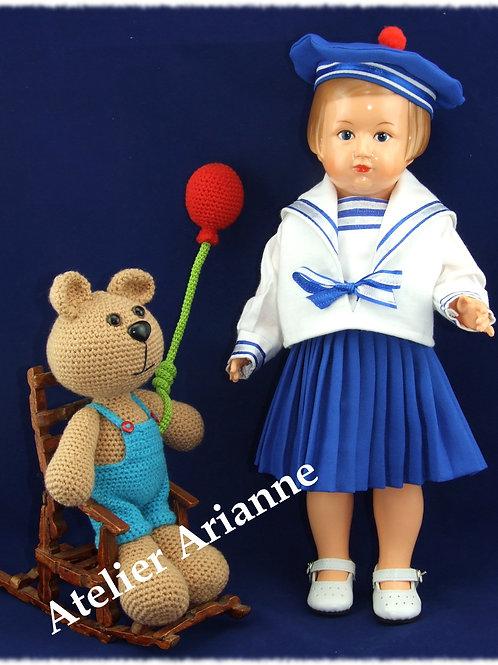 Tenue pour poupée Françoise Modes et Travaux Septembre 1953