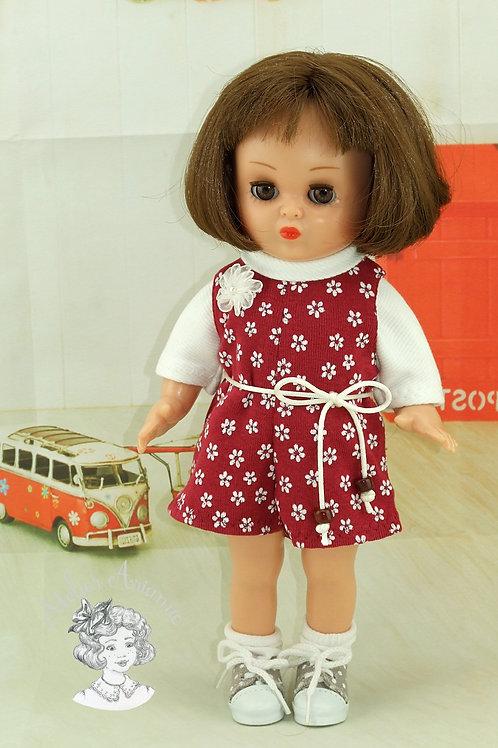 Tenue Marta avec fleurs pour poupées de 30-33 cm