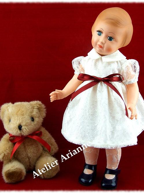 Tenue pour poupée Françoise , Francette Modes et Travaux Juin 1958
