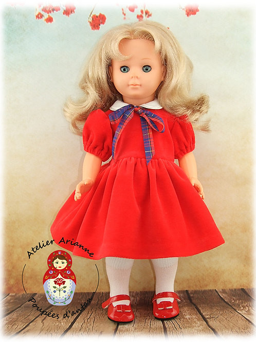 Décembre 1951 Tenue pour poupée Françoise de Modes et Travaux