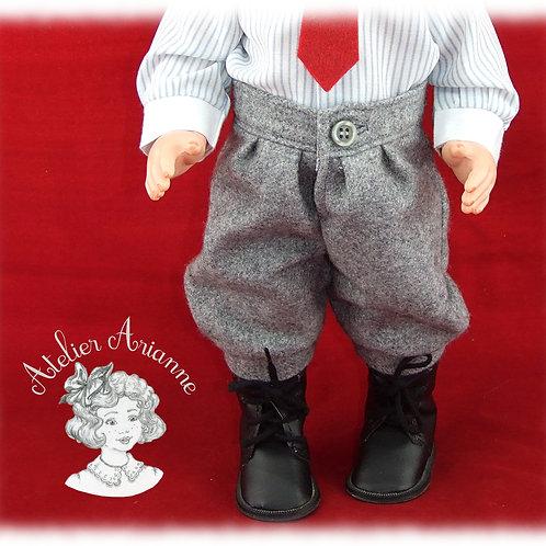 Pantalon d'octobre 1982 pour poupée Jean-Michel de Modes et Travaux