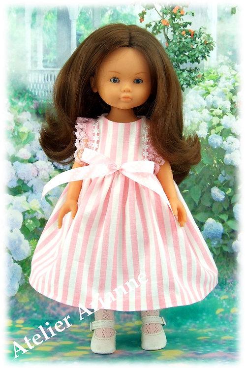 Tenue Eloise pour poupées Corolle, Paola Reina, Bella, Minouche 33-35 cm